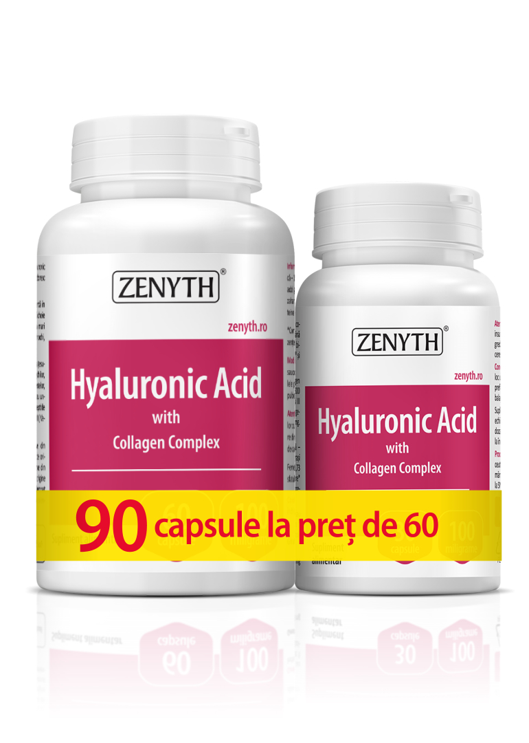 Hyaluronic Acid with Collagen - pachet 90cps la pret de 60