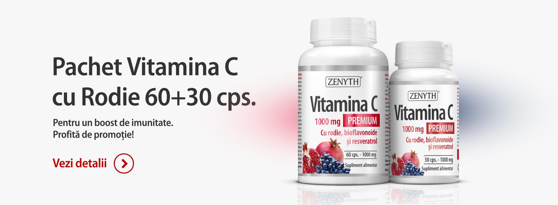 Vitamina C Premium cu Rodie